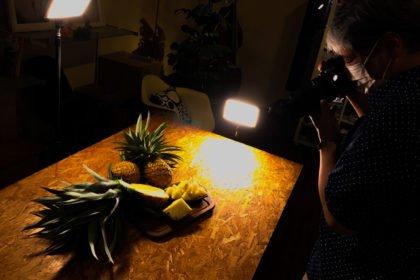 奄美フルーツファーム パイナップル まち色スタジオ撮影 1