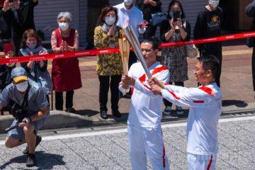 オリンピック聖火リレー 奄美大島なぜまち商店街 4